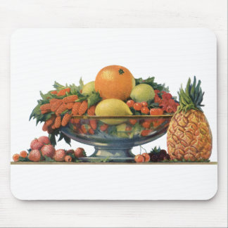 Vintage Food, Assorted Fruit in a Bowl Mouse Pad