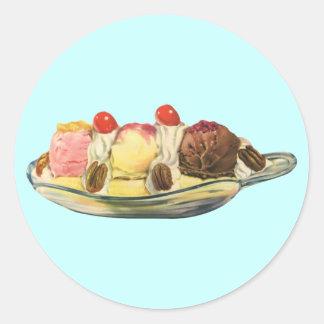 Vintage Food Desserts, Banana Split Cherries Stickers