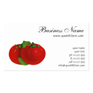 Vintage Food, Fruits, Vegetables, Red Ripe Tomato Business Cards