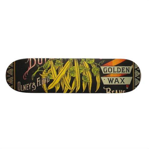 Vintage Food Green Bean Vegetable Advertising Custom Skateboard