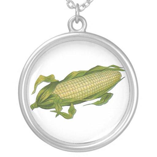Vintage Food, Healthy Vegetables, Corn on the Cob Necklace