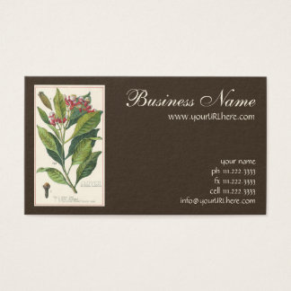 Vintage Food Herbs Spices, Botany of Cloves Business Card