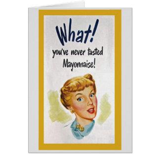 Vintage Food Humor Greeting Card