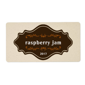 Vintage food label jam Marmalade Homemade product Shipping Label