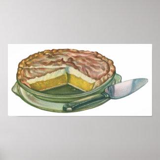 Vintage Food, Lemon Meringue Pie Dessert Posters