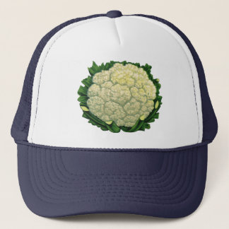 Vintage Food Vegetables Veggies Cauliflower Trucker Hat