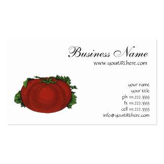 Vintage Foods, Fruits, Vegetables, Red Ripe Tomato Business Cards
