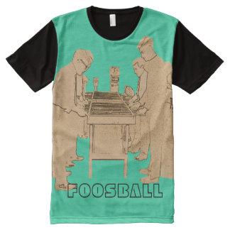 VINTAGE FOOSBALL FUZBOLL PHOTO ART TABLE FOOTBALL All-Over PRINT T-Shirt