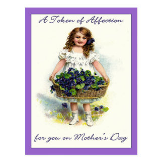 Vintage For You on Mother's Day,Token of Affection Postcard