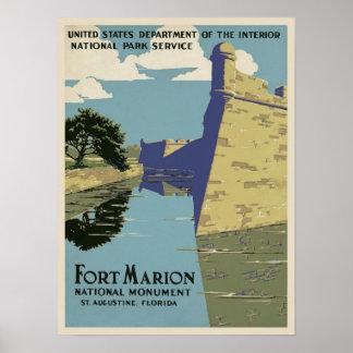 Vintage Fort Marion Poster