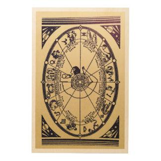 Vintage Fortune Teller Design Wood Print
