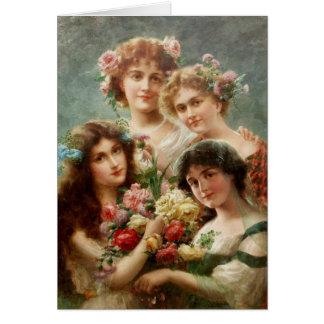 Vintage - Four Ladies of Yesteryear, Card
