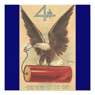 Vintage Fourth of July Eagle Invitations