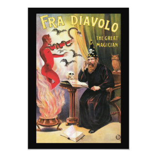 Vintage Fra Diavolo The Great Magician Poster Card