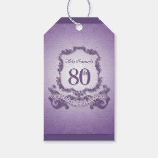Vintage Frame 80th birthday Thank You Gift Tag