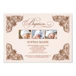 VINTAGE FRAME  |  BAPTISM INVITATION 13 CM X 18 CM INVITATION CARD