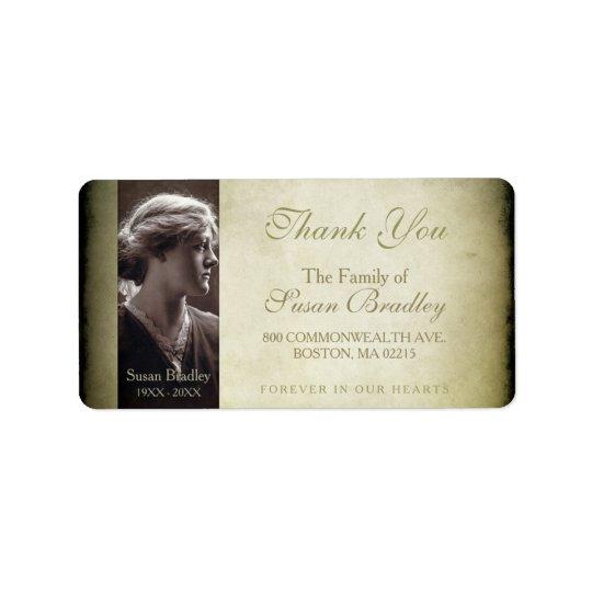 Vintage Frame Family Thank You Label Address Label