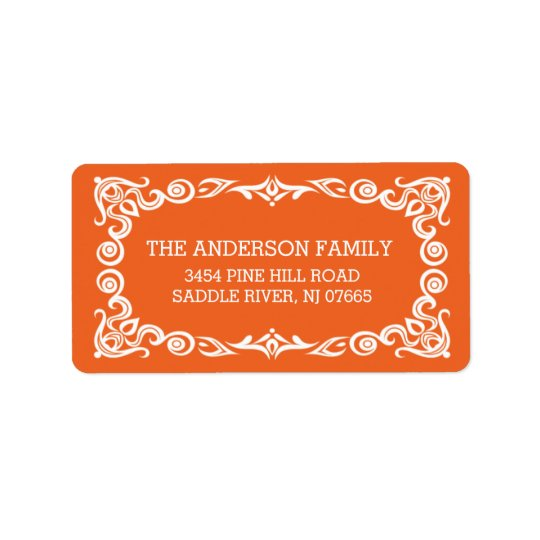 Vintage Frame Halloween Return Address Label