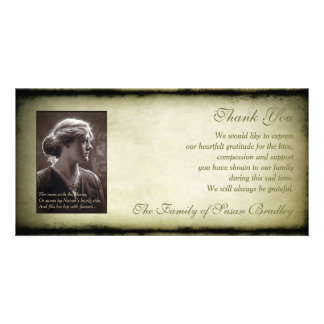 Vintage Frame Sympathy Thank You Photo H Card Personalized Photo Card