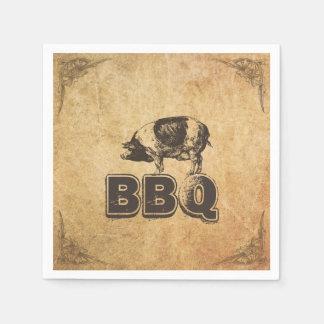 Vintage Framed Pig Roast BBQ Paper Serviettes