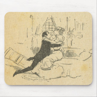 Vintage France, Belle Epoch, First kiss Mouse Pad