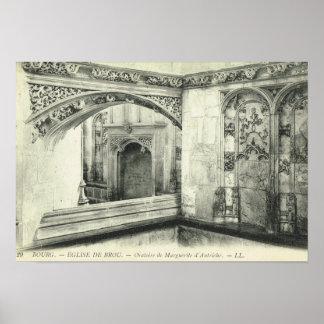 Vintage France, Bourg en Bresse, Eglise de Brou Poster