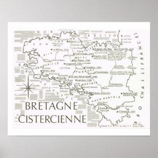 Vintage France, Bretagne Cistercienne Poster