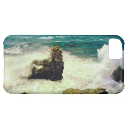 Vintage  France,  Bretagne, Rough seas at Quiberon iPhone 5C Cases