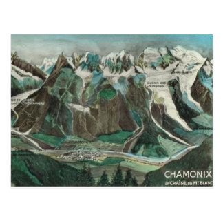 Vintage France, Chamonix, Mont Blanc Postcard