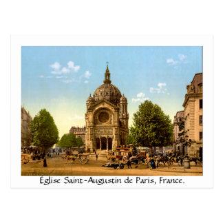 Vintage France, Église Saint-Augustin de Paris Postcard