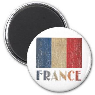 Vintage France Flag 6 Cm Round Magnet