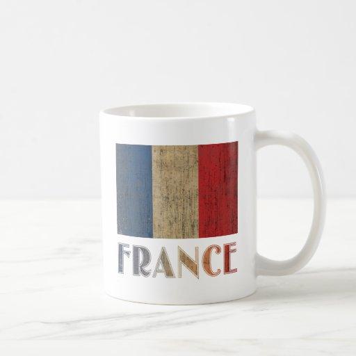 Vintage France Flag Coffee Mugs