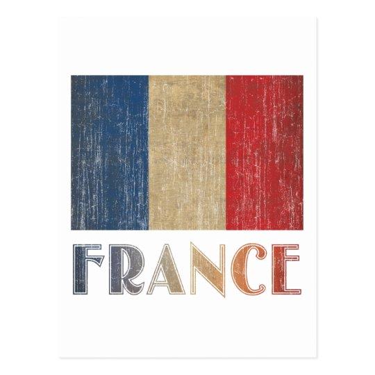 Vintage France Flag Postcard