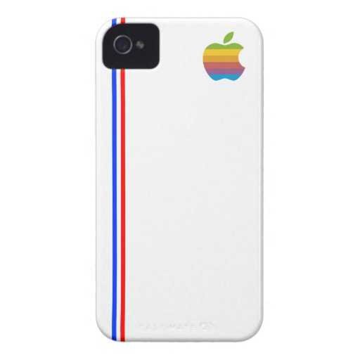 Vintage France flag with Apple logo iPhone 4 Case-Mate Case