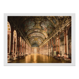 Vintage France, Gallery of Mirrors Versailles Poster