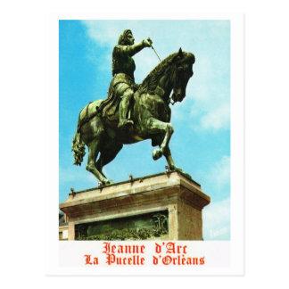 Vintage France, Jeanne d'Arc, Pucelle d'Orleans Postcard