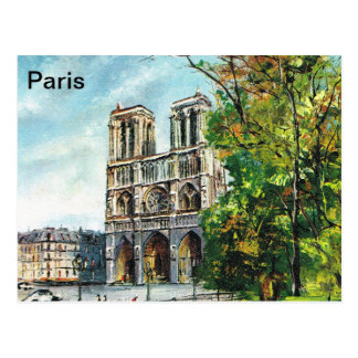 Vintage France, Notre Dame de Paris Postcard