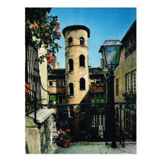 Vintage France, Old Lyon, Silk weavers district Postcard