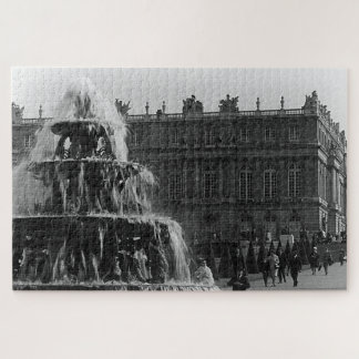 Vintage France palace Versailles Pyramid fountain Jigsaw Puzzle