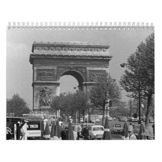 Vintage France Paris 1970 Calendar
