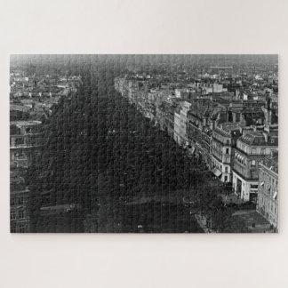 Vintage France Paris champs elysees avenue Jigsaw Puzzle