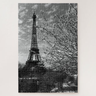 Vintage France Paris Eiffel tower Jigsaw Puzzle