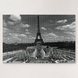Vintage France Paris Fontain Chaillot Tower Eiffel Jigsaw Puzzle
