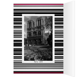 Vintage France Paris Notre Dame Cathedral Card