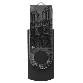 Vintage France Paris Notre Dame Cathedral USB Flash Drive