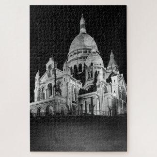 Vintage France Paris Sacre Coeur Basilica Jigsaw Puzzle