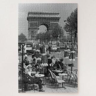 Vintage France Paris Triumphal arch Jigsaw Puzzle