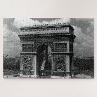 Vintage France Paris Triumphal arch Place Etoile Jigsaw Puzzle