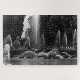 Vintage France Versailles palace neptune fountains Jigsaw Puzzle