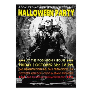 Vintage Frankenstein Halloween Party Invitations